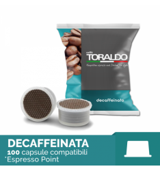 100 Capsule MISCELA DECAFFEINATO Toraldo Sistema Lavazza Espresso Point