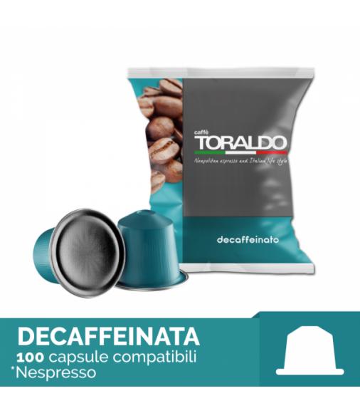 100 Capsule MISCELA DECAFFEINATA Toraldo Sistema Nespresso
