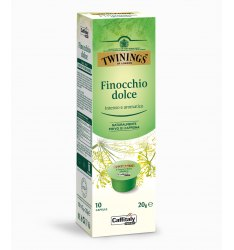 10 Capsule Twinings FINOCCHIO DOLCE Sistema Caffitaly System