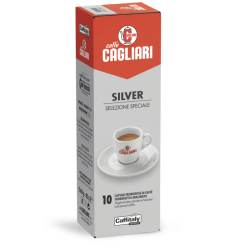 10 Capsule Cagliari SILVER Sistema Caffitaly System