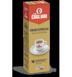 10 Capsule Cagliari GRAND ESPRESSO Sistema Caffitaly System