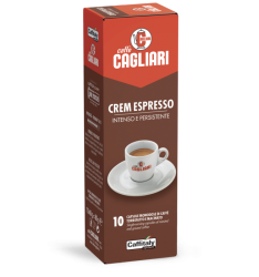 10 Capsule Cagliari CREM ESPRESSO Sistema Caffitaly System