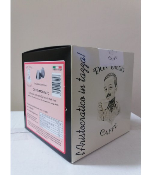 20 Capsule DON DIEGO Caffè Macchiato Sistema Nespresso