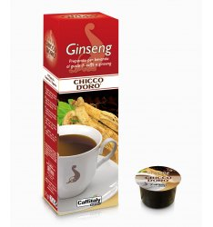 10 Capsule Chicco D'Oro GINSENG Sistema Caffitaly System