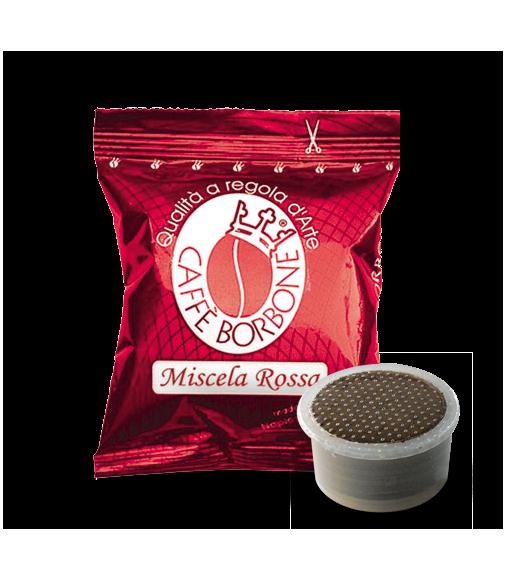 100 Capsule Borbone Compatibili Sistema Lavazza Espresso Point Miscela Rossa