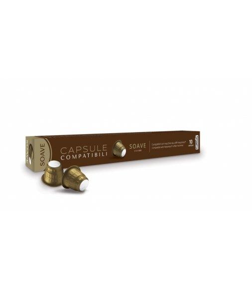 10 Capsule LaCapsula Caffitaly SOAVE Compatibili Nespresso
