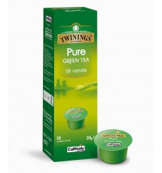 10 Capsule Twinings PURE GREEN TEA Sistema Caffitaly System