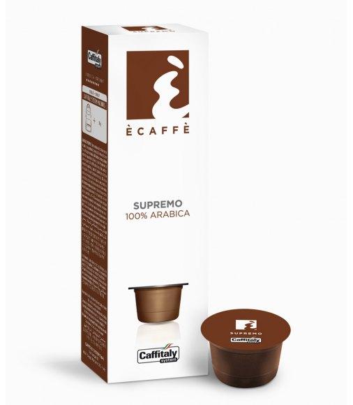 10 capsule ecaffè SUPREMO sistema caffitaly system
