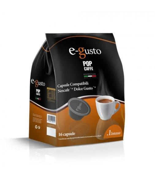 POP CAFFÈ CAPSULE E-GUSTO MISCELA 1 INTENSO COMPATIBILI NESCAFÈ DOLCE GUSTO CONF 16 PZ