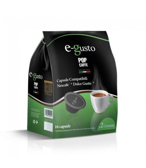 POP CAFFÈ CAPSULE E-GUSTO MISCELA 2 CREMOSO COMPATIBILI NESCAFÈ DOLCE GUSTO CONF 16 PZ