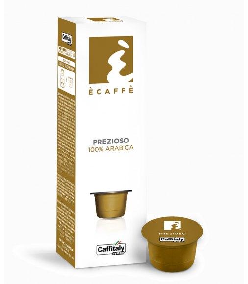 10 capsule ecaffè PREZIOSO 100% ARABICA sistema caffitaly system