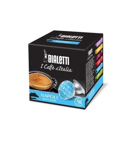 Box 16 Capsule BIALETTI i caffè d'italia NAPOLI gusto forte