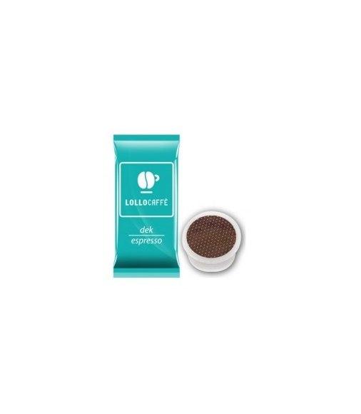 100 Capsule Lollo Caffè Compatibile Sistema Lavazza Espresso Point Miscela DEK