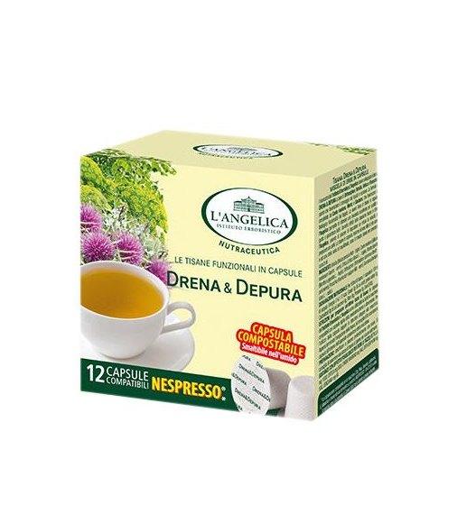 12 Capsule DRENA E DEPURA L'Angelica Compatibile Nespresso