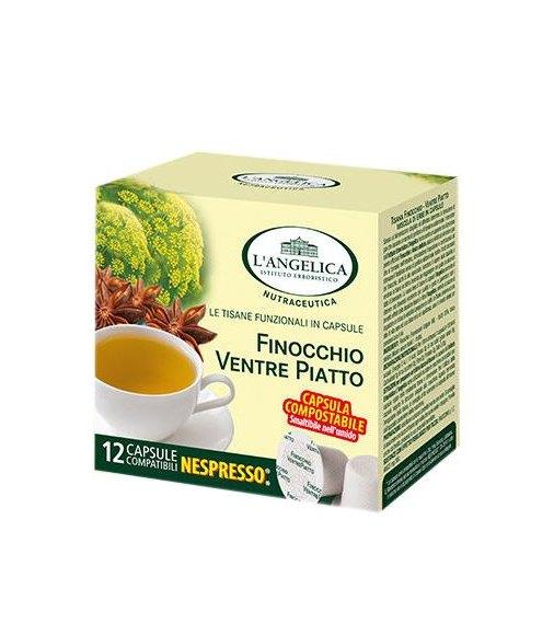 12 Capsule FINOCCHIO VENTRE PIATTO L'Angelica Compatibile Nespresso