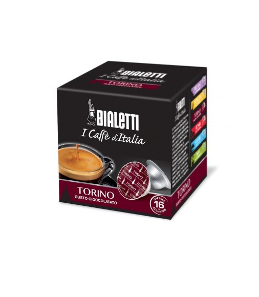 Box 16 Capsule BIALETTI i caffè d'italia TORINO gusto cioccolato