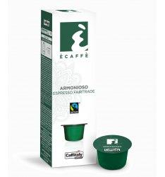 10 Capsule Ecaffè ARMONIOSO FAIRTRADE Sistema Caffitaly System