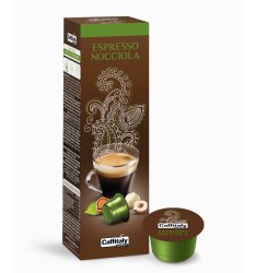 10 CAPSULE ESPRESSO NOCCIOLA CAFFITALY SYSTEM