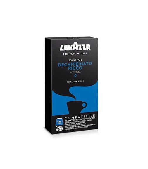 Box 10 Capsule Lavazza DECAFFEINATO Compatibile Nespresso