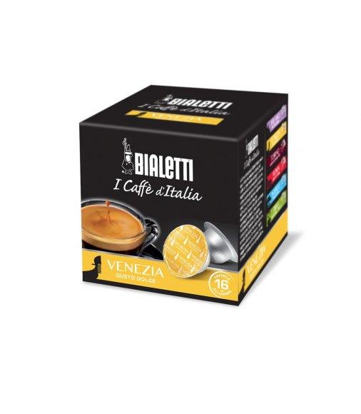 Box 16 Capsule BIALETTI i caffè d'italia VENEZIA gusto dolce