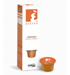 10 Capsule Ecaffè CREMOSO Sistema Caffitaly System