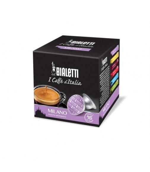 Box 16 Capsule BIALETTI i caffè d'italia MILANO gusto morbido