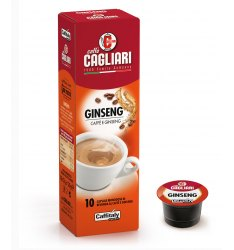 10 Capsule Cagliari GINSENG Sistema Caffitaly System