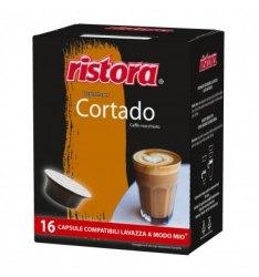 16 Capsule Ristora CORTADO Compatibili Lavazza A Modo Mio