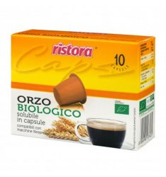 10 Capsule Ristora ORZO BIOLOGICO Compatibili Nespresso