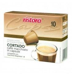 10 Capsule Ristora CORTADO Compatibili Nespresso