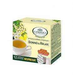 12 Capsule TISANA SONNO E RELAX L'Angelica Compatibile Nespresso