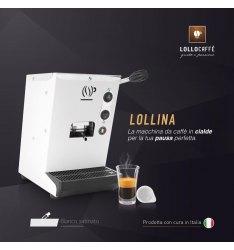 Macchina LOLLINA BIANCA per cialde filtrocarta 44mm ESE + 100 Cialde Don Diego omaggio