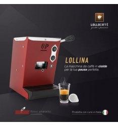 Macchina LOLLINA ROSSA per cialde filtrocarta 44mm ESE + 40 Cialde Don Diego omaggio + 40 CIalde Lollo Caffè Omaggio