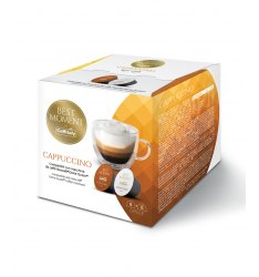 BOX 16 CAPSULE CAFFITALY SYSTEM MISCELA CAPPUCCINO SISTEMA NESCAFE DOLCE GUSTO